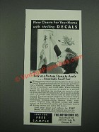 1938 Meyercord Decal Transfers Ad - New Charm For Your Home