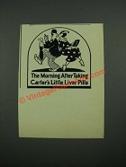 1938 Carter's Little Liver Pills Ad - The Morning After Taking