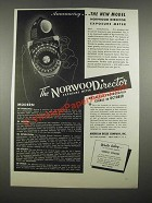 1947 Norwood Director Exposure Meter Ad - The New Model