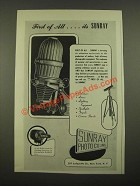 1947 Sunray Enlarger Ad - First Of All
