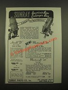 1947 Sunray Arnold D and Mastercraft Enlargers Ad - America's Best Buy