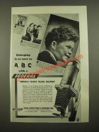 1947 Federal Enlarger Ad - Enlarging Is As Easy As ABC