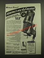1947 Federal Model 450 Enlarger Ad - Without Equal!