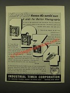 1947 Industrial Timer Corporation Ad -Time-O-Lite Master M-49; Professional P-49
