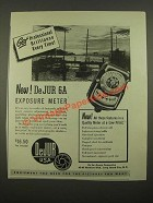 1947 DeJur 6A Exposure Meter Ad - Get Professional Brilliance
