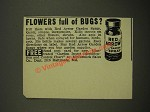1942 McCormick Red Arrow Garden Spray Ad - Flowers Full of Bugs?