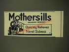 1939 Mothersills Seasick Remedy Ad - Quickly Relieves Travel Sickness