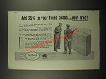 1948 Art Metal Five Drawer Filing Cabinet Ad - Add Space Rent Free