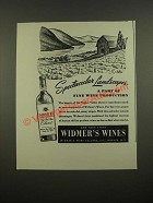 1948 Widmer's Wines Ad - Spectacular Landscapes