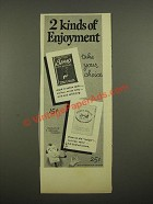 1948 Briggs and India House Tobacco Ad - 2 Kinds of Enjoyment