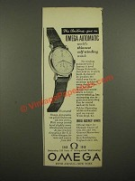 1948 Omega Automatic Watch Ad - This Christmas Give
