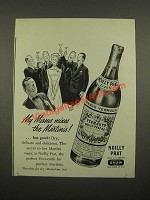 1948 Noilly Prat Vermouth Ad - My Missus Mixes The Martinis