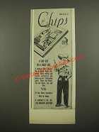 1948 B. Schwartz & Co. Chips Western Rig Clothes Ad