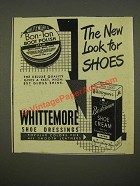 1948 Whittemore Bon-Ton Boot Polish and Bostonian Shoe Cream Ad