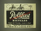 1948 Rollfast Bicycles Ad