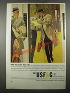 1963 USF&G Insurance Ad - When You Can't Take Time