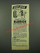 1949 Aldrich Home Heating Plants Ad - Save Space