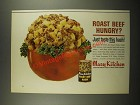 1964 Hormel Mary Kitchen Roast Beef Hash Ad - Hungry?