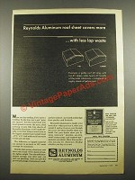 1964 Reynolds Aluminum Roof Sheet Ad - Covers More
