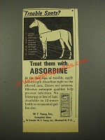 1964 Absorbine Veterinary Liniment Ad - Trouble Spots?