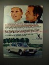 1977 Peugeot 604 SL V6 Car Ad, in German - NICE!!