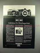 1977 Olympus OM-1, OM-2 Camera Ad - German, Definition!