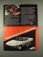 1979 Triumph TR7 Car Ad - Invites You to a New Opening!