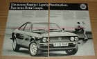 1979 2pg Lancia Beta Coupe Car Ad, in German - NICE!