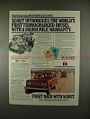 1980 International Harvester Scout Ad, 100,000 Warranty