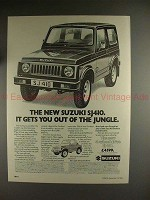 1982 Suzuki SJ410 Car Ad - Gets You Out Of The Jungle!!