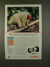 1992 Canon EOS 1 Camera Ad w/ White Uakari - Wildlife!!