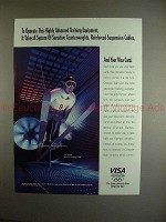 1993 VISA card Ad w/ Jim Holland - Olympic Ski Jumper!!