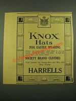 1915 Harrells Knox Hats Ad - For Easter Wearing