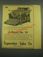 1915 Royal No. 10 Typewriter Ad - Are You Behind?