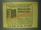 1915 Webster's New International Dictionary Ad - Shelf Room