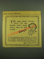 1915 Velvet Tobacco Ad - Flyin' Off the Handle