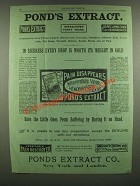 1886 Pond's Extract Ad - Every Drop Is Worth Its Weight in Gold