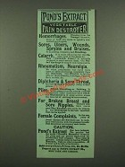 1886 Pond's Extract Ad - Vegetable Pain Destroyer