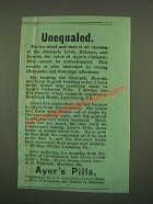 1886 Ayer's Pills Ad - Unequaled