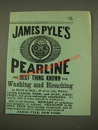 1886 James Pyle's Pearline Soap Ad