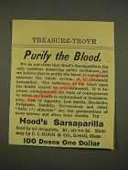 1886 Hood's Sarsaparilla Ad - Purify The Blood