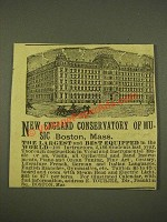 1886 New England Conservatory of Music Ad