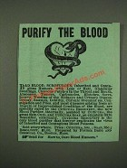 1885 Cuticura Resolvent and Soap Ad - Purify the Blood