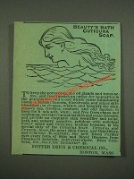 1885 Cuticura Soap, Resolvent Ad - Beauty's Bath