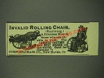 1885 Comfort Chair Co. Invalid Rolling Chair Ad