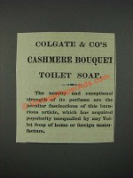 1883 Colgate & Co's Cashmere Bouquet Toilet Soap Ad