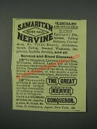 1884 Dr. S.A. Richmond Medical Co. Samaritan Nervine Ad
