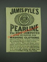1884 James Pyle's Pearline Soap Ad