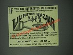 1884 Best & Co. Liliputian Bazaar Ad - Interested in Children