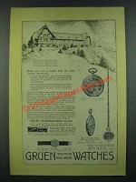 1919 Gruen Watches Ad - Louis XIV, Hexagon Wristlet, Verithin, Round Convertible